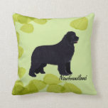 Newfoundland - Green Leaves Design Pillows