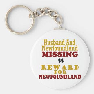 Newfoundland & Husband Missing Reward For Newfound Basic Round Button Keychain