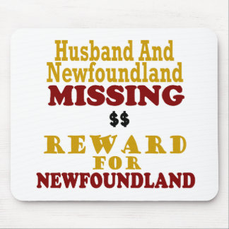 Newfoundland & Husband Missing Reward For Newfound Mouse Pad