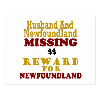 Newfoundland & Husband Missing Reward For Newfound Postcard