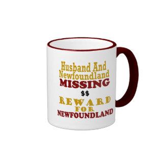 Newfoundland & Husband Missing Reward For Newfound Ringer Coffee Mug