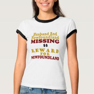 Newfoundland & Husband Missing Reward For Newfound T-shirt