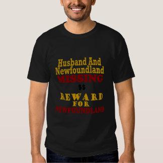 Newfoundland & Husband Missing Reward For Newfound T Shirts