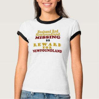 Newfoundland & Husband Missing Reward For Newfound Tee Shirt