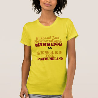 Newfoundland & Husband Missing Reward For Newfound Tshirt