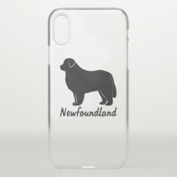 Uncommon iPhone XS Clearly™ Deflector Case with Newfoundland Phone Cases design