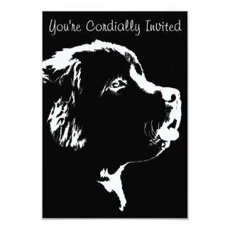 Newfoundland Invitations Personalize Dog RSVP Card
