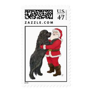 Newfoundland Jowly Christmas Greeting Postage