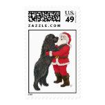 Newfoundland Jowly Christmas Greeting Postage Stamps