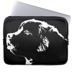 Neoprene Laptop Sleeve 13 inch with Newfoundland Phone Cases design