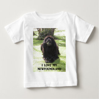 Newfoundland love w pic.png baby T-Shirt