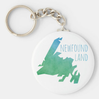 Newfoundland Map Keychain