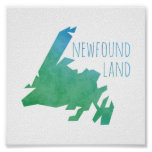 Newfoundland Map Poster