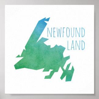 Newfoundland Map Poster