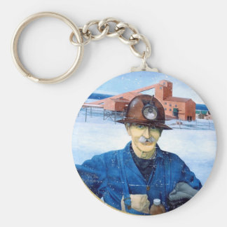 Newfoundland Miner Mural Key Chain
