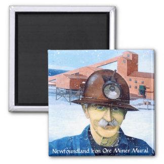 Newfoundland Miner Mural Magnet