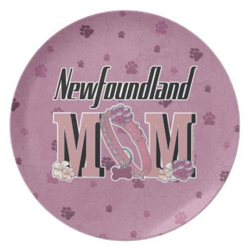 Newfoundland MOM Party Plates