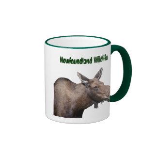 Newfoundland Moose Souvenir Ringer Coffee Mug
