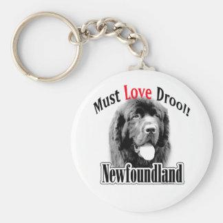 Newfoundland Must Love Drool Keychain