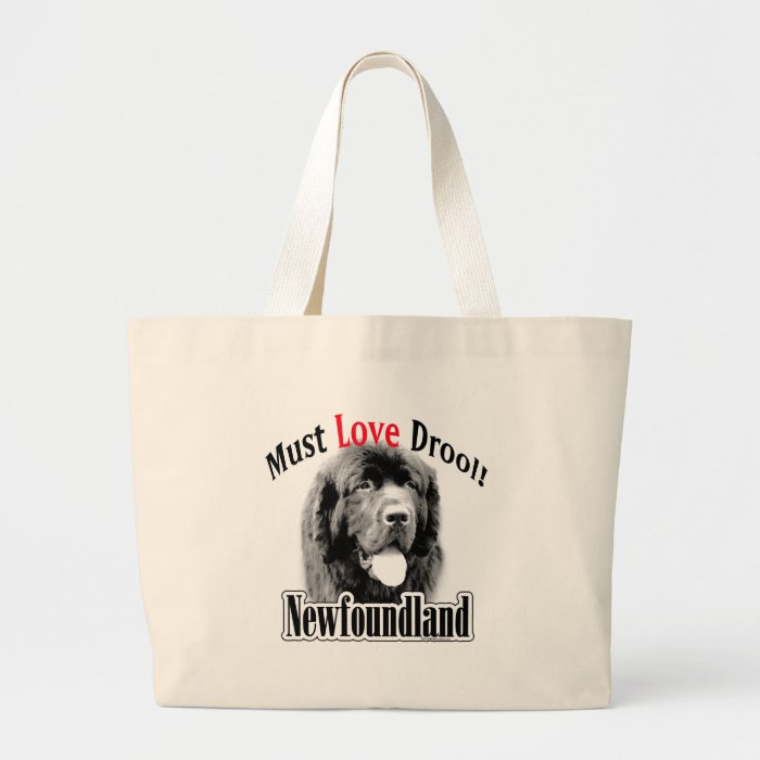 Newfoundland Must Love Drool Large Tote Bag