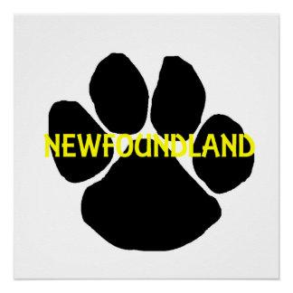 newfoundland name paw poster