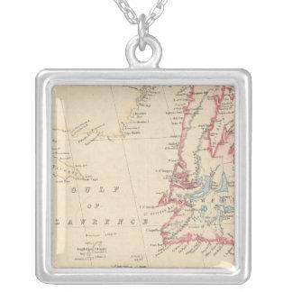 Newfoundland, New Brunswick, Nova Scotia Square Pendant Necklace