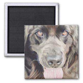 """Newfoundland"" Newfie Dog Watercolor Art Refrigerator Magnet"