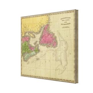 Newfoundland Nova Scotia And New Brunswick Canvas Print