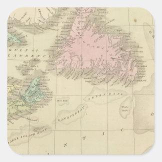 Newfoundland, Nova Scotia, and New Brunswick Square Sticker