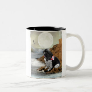 Newfoundland on ocean Two-Tone coffee mug