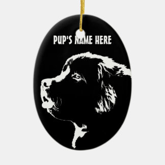 Newfoundland Ornament Personalized Dog Decoration