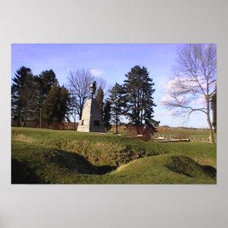 Newfoundland Park, Highland Memorial, trenches Poster