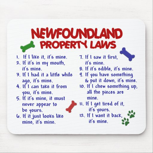 NEWFOUNDLAND Property Laws 2 Mouse Pad
