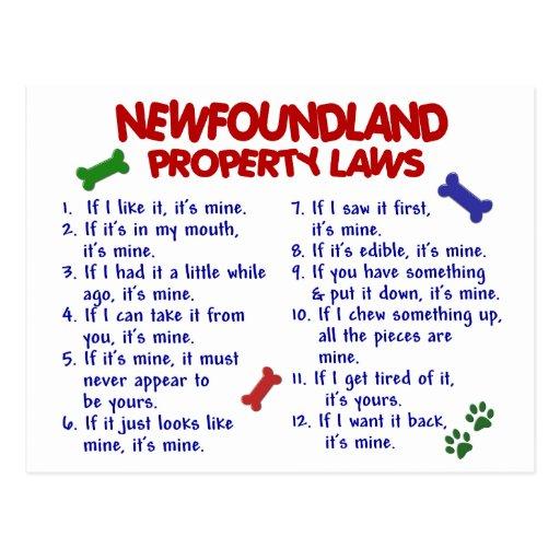 NEWFOUNDLAND Property Laws 2 Postcard