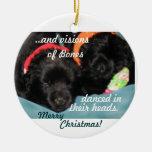 Newfoundland Puppies Christmas Ornament