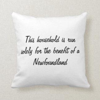 Newfoundland puppy dog cute photo cushion