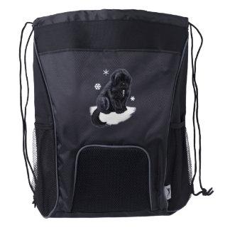 Newfoundland Puppy Drawstring Backpack