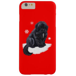 Newfoundland Puppy in the Snow Barely There iPhone 6 Plus Case