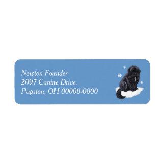 Newfoundland Puppy Label