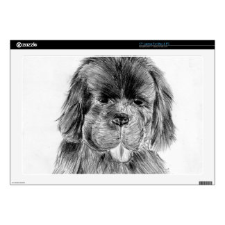 Newfoundland puppy decal for laptop