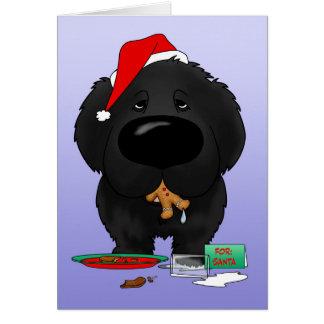 Newfoundland Santa's Cookies Card