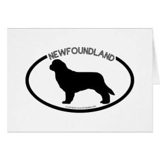 Newfoundland Silhouette Black Card