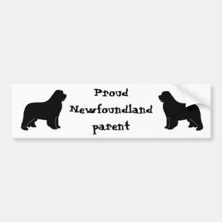 newfoundland silhouette car bumper sticker