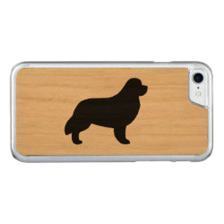 Carved Apple iPhone 7 Wood Case with Newfoundland Phone Cases design