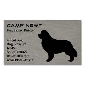 Newfoundland Silhouette Wood Style Magnetic Business Card