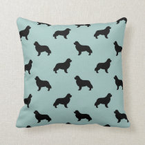 Newfoundland Silhouettes Pattern Throw Pillow