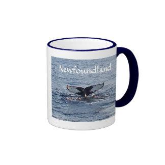 Newfoundland Souvenir - Whale Tail Ringer Coffee Mug