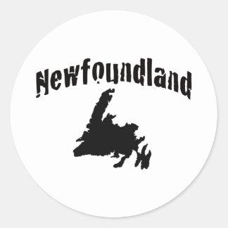 Newfoundland Round Stickers