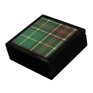 Newfoundland Tartan Ceramic Tile Inlaid Wood Gift  Keepsake Box