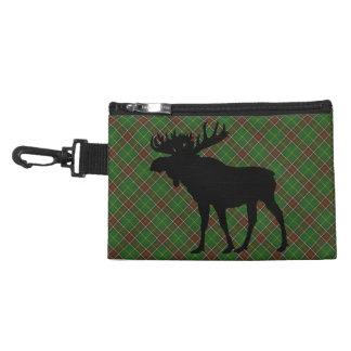 Newfoundland Tartan  clip on coin purse moose
